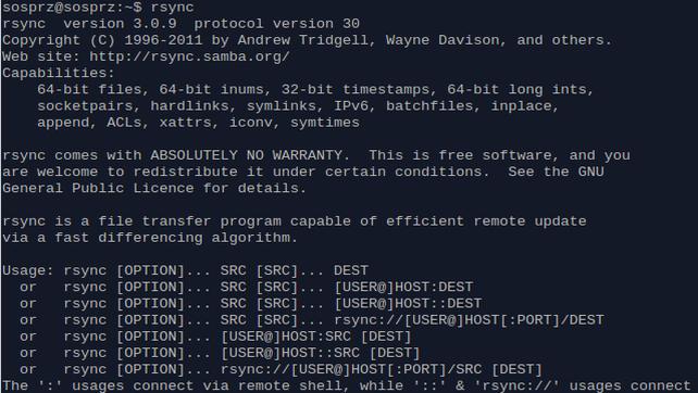 Synchronizacja dwóch katalogów przy pomocy rsync