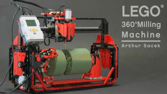 Frezarka zrobiona z LEGO