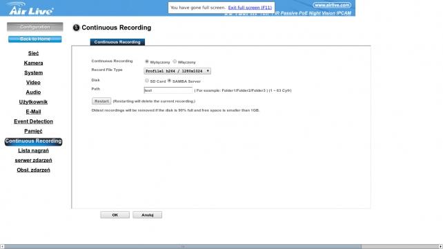 techfreak.pl_CU_720PIR_continuous_recording