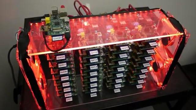 33 sztuki Raspberry pi w klastrze
