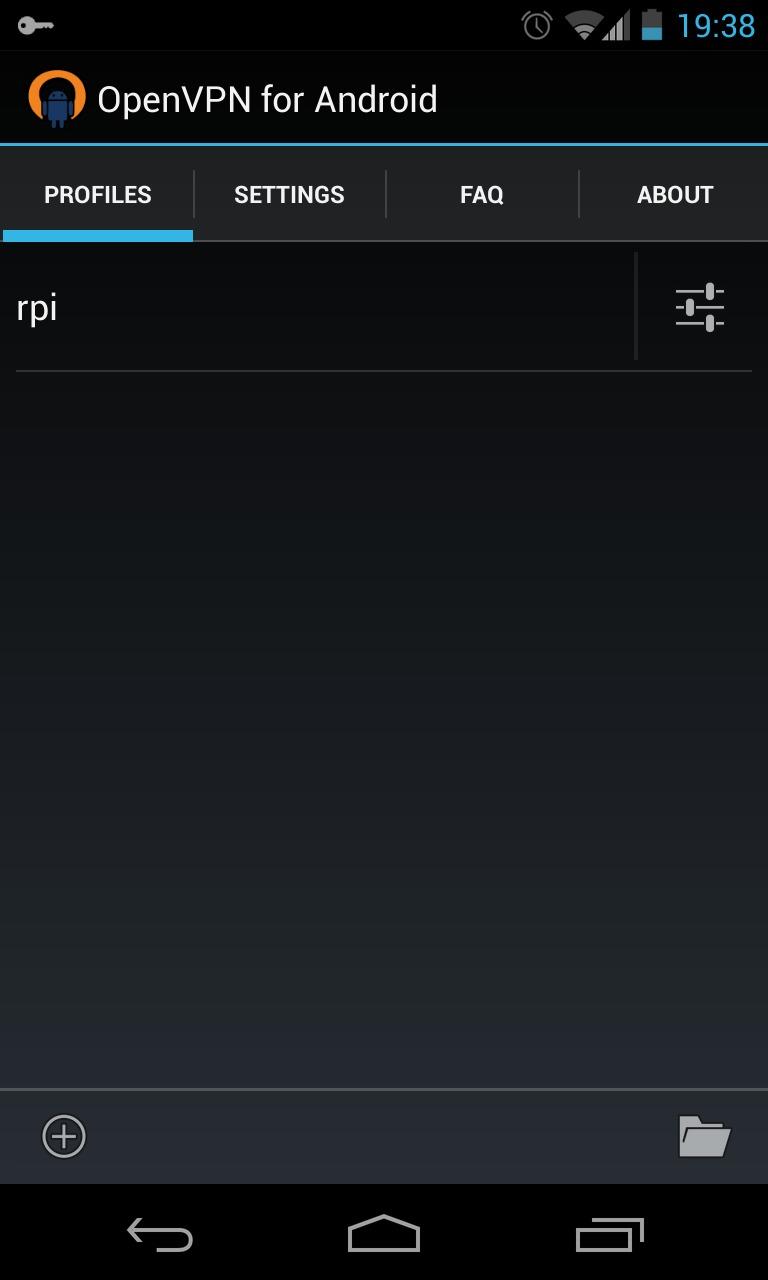 raspberrypi openvpn android
