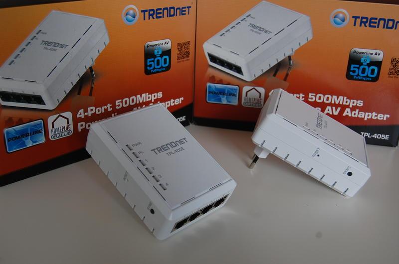 LAN z gniazdka TRENDnet TPL-405E