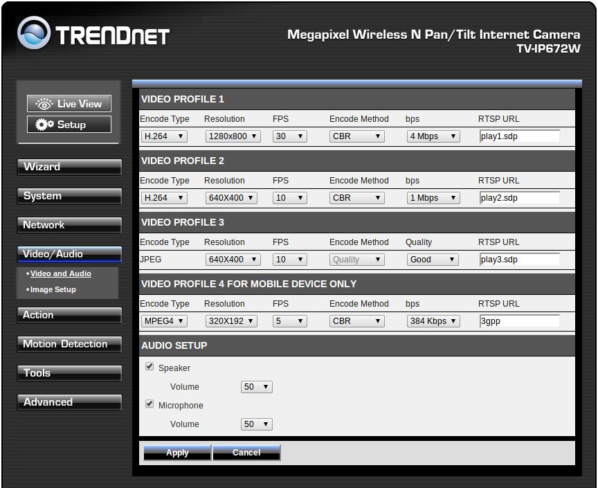 TRENDnet TV-IP672W_konfigracja_audio_wideo1