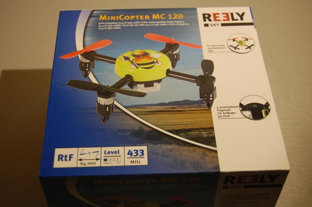 MiniCopter MC 120 test mini quadcoptera