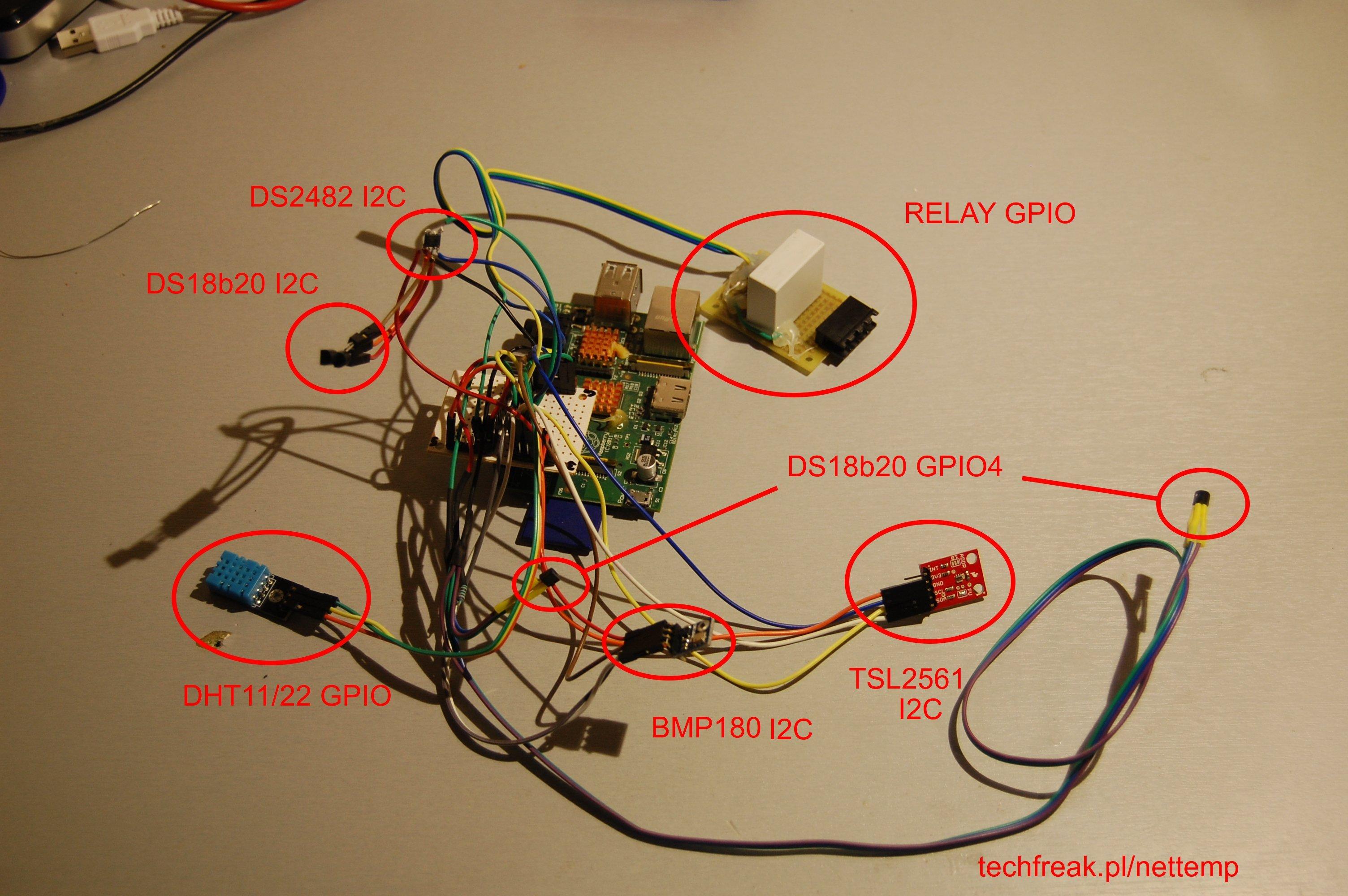 Nettemp + I2C + BMP180 + TSL2561 + DS2482