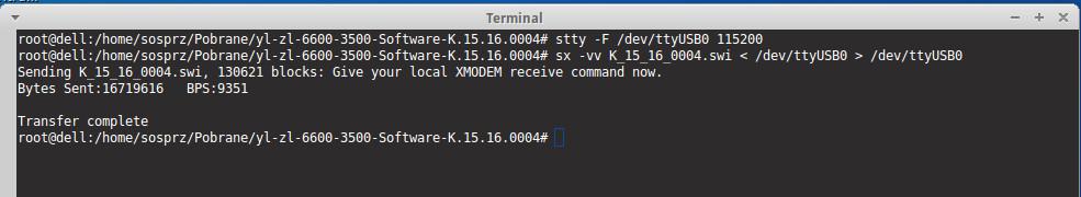 Wgrywanie firmware przez xmodem