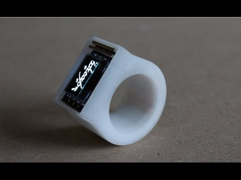 Wearable bluetooth smart ring