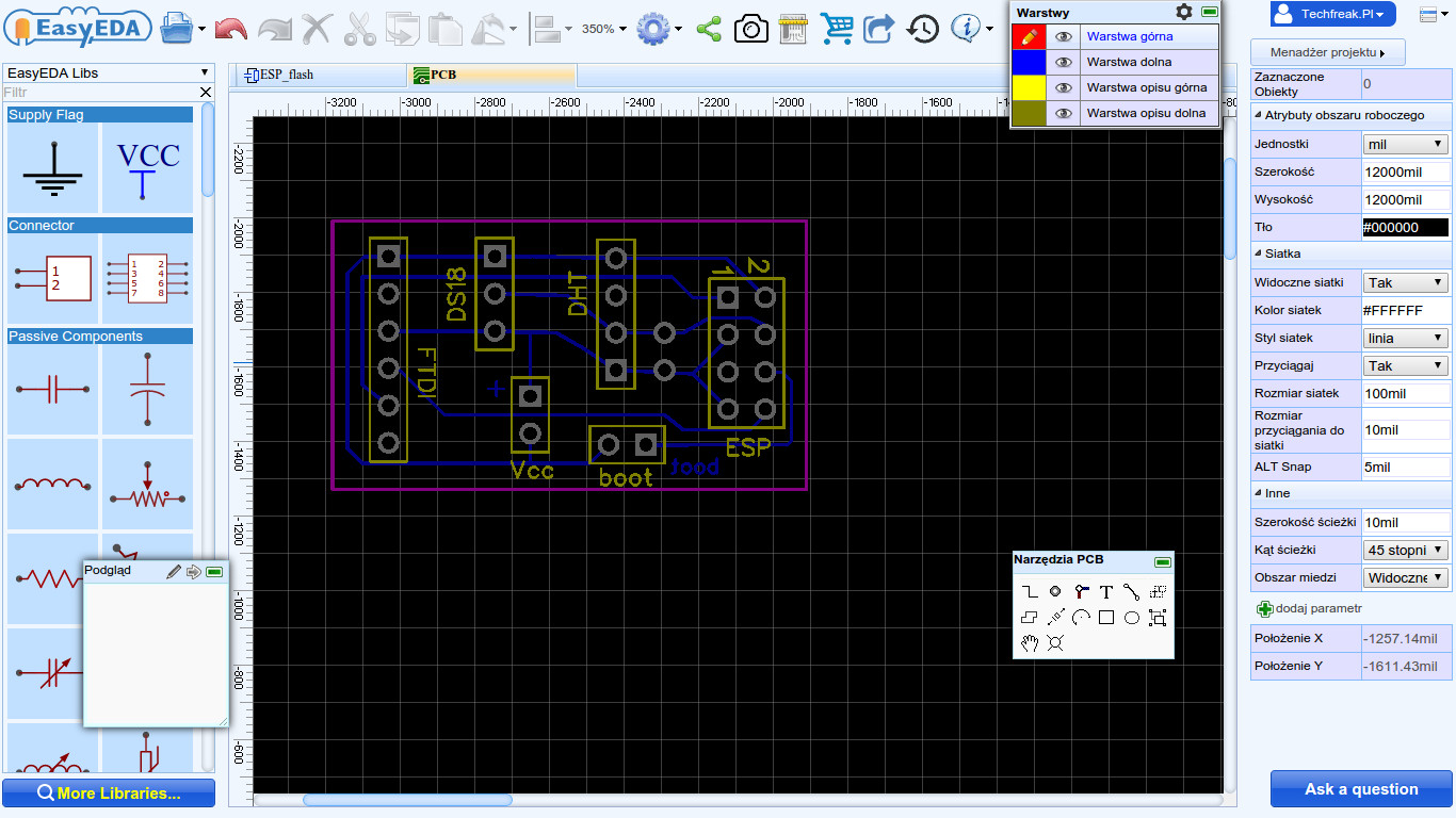 EasyEDA program do projektowania PCB