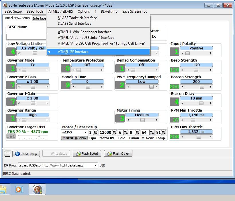 2_techfreak_blheli_13_DYS_SN20A_SN16A_USBASP_1wire_flash