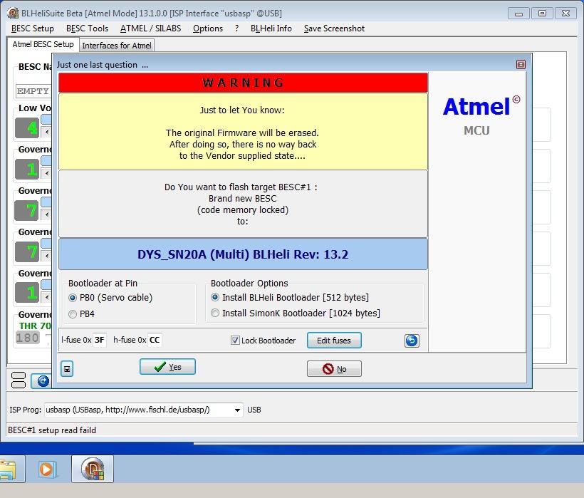 6_techfreak_blheli_13_DYS_SN20A_SN16A_USBASP_1wire_flash