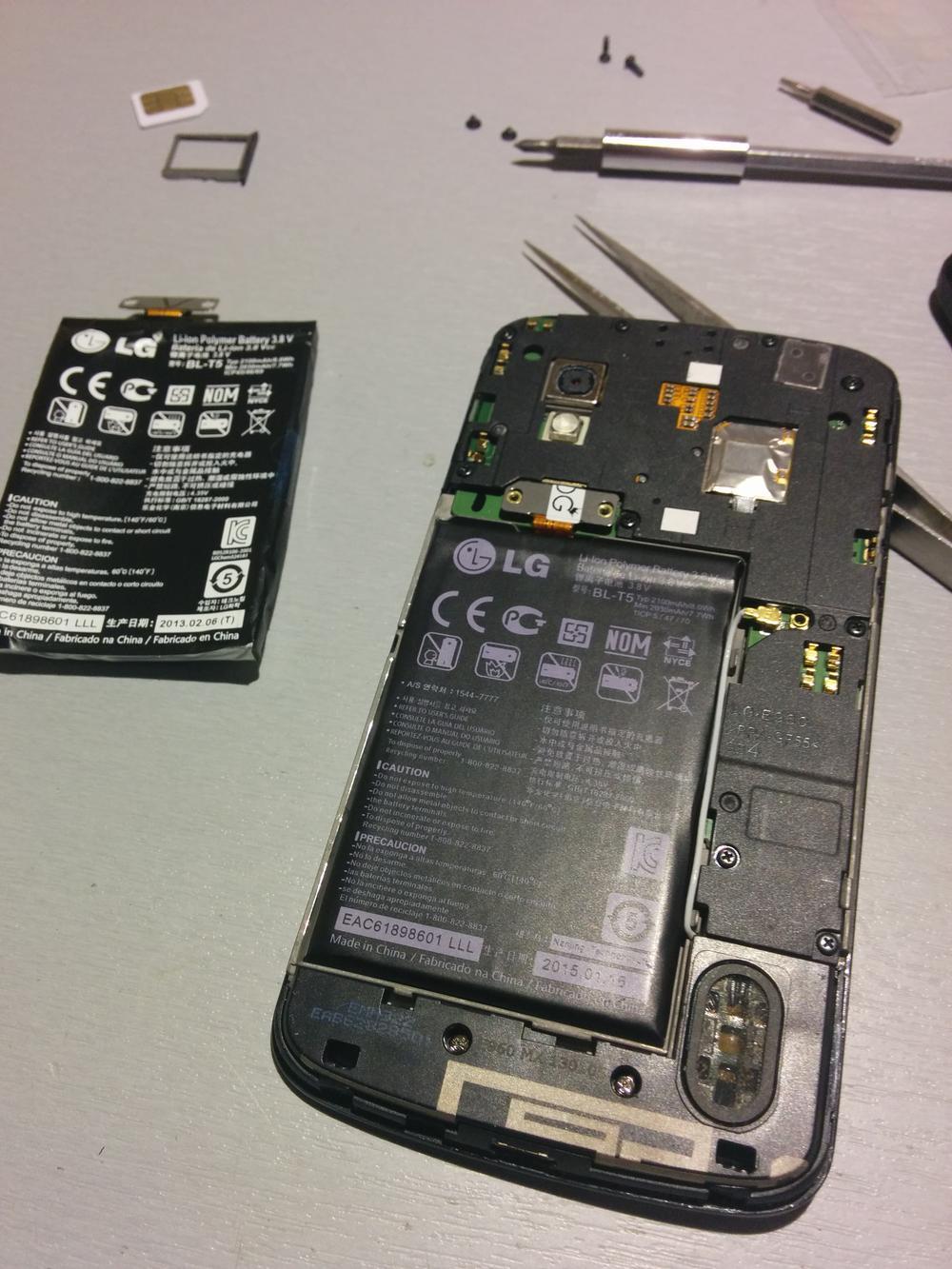 Wymiana baterii w lg nexus 4