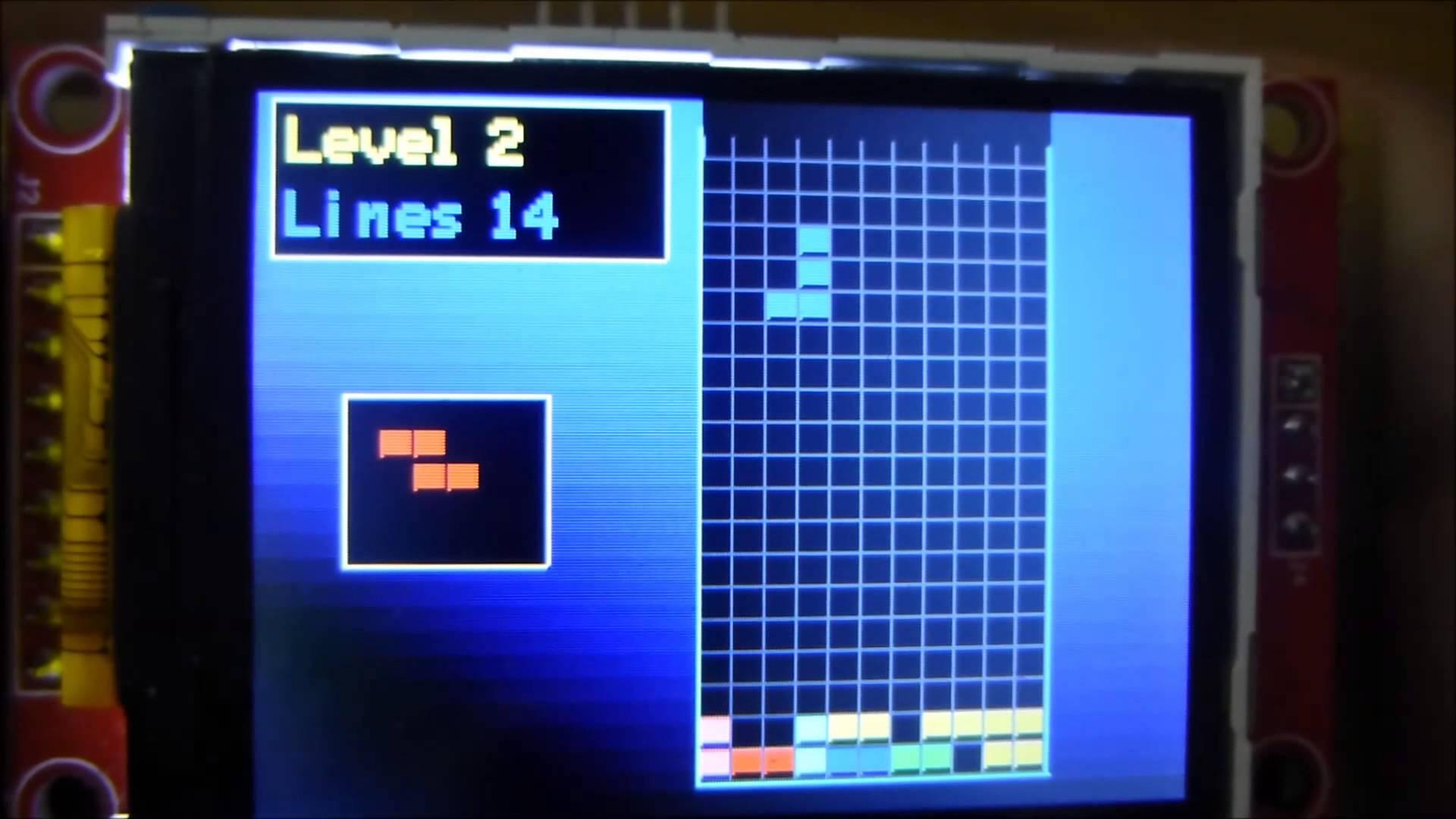 Kolorowy Tetris na Arduino