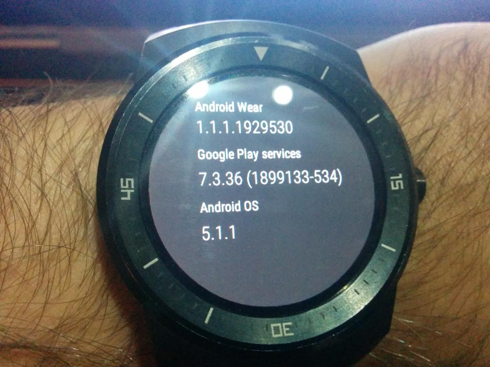 LG G watch R Android 5.1.1 OTA