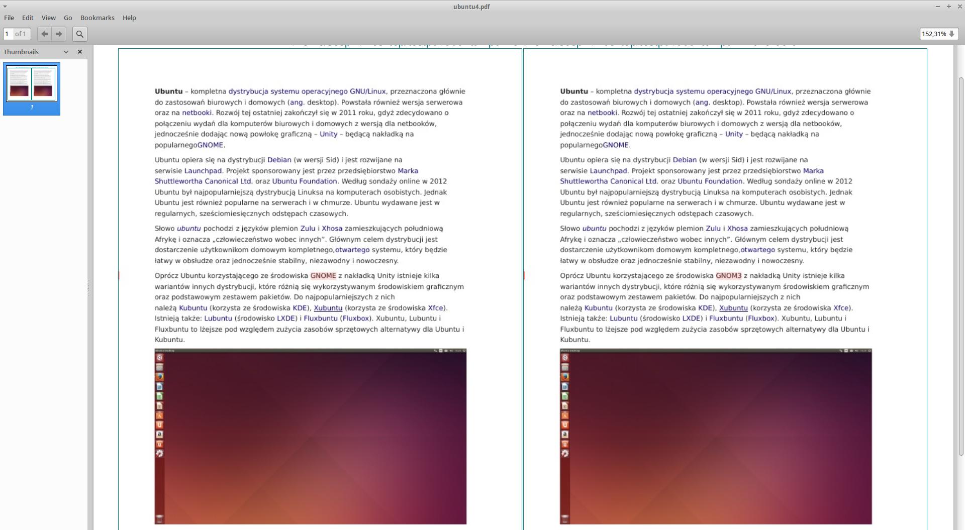 Jak porównać pliki pdf? DiffPDF