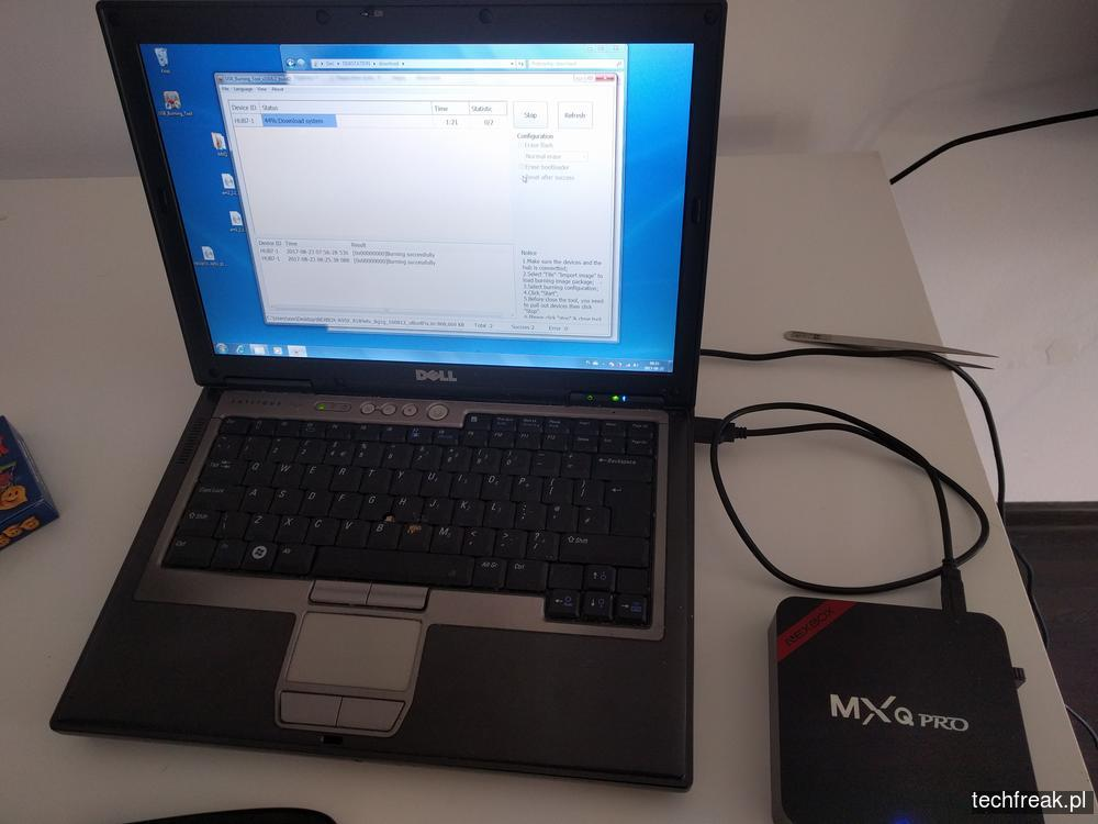 NEXBOX MXQ PRO aktualizacja firmware - techfreak blog